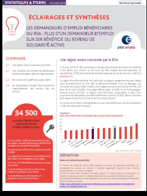 7863ffebcdd Les demandeurs d emploi bénéficiant du revenu de solidarité active - JUIN  2018